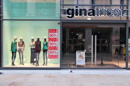DORTMUND, GERMANY - JULY 15, 2012: Gina Tricot Swedish fashion store in Dortmund, Germany. The company has 170 shops.