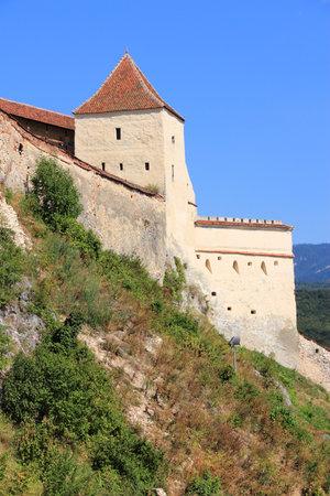 Rasnov castle in Transylvania region of Romania. Old fortress.