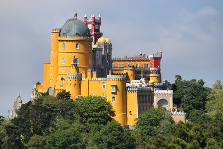 Pena Palace in Sintra, Portugal. Romanticism architecture.