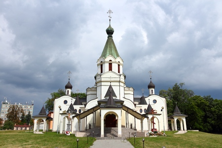 Alexander Nevski Orthodox Cathedral in Presov, Slovakia. Eastern Europe landmark.