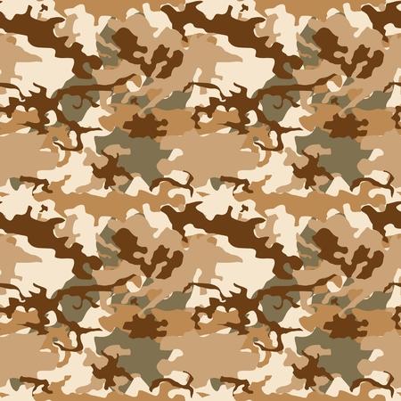 Texture de vecteur de camouflage de désert - fond de tissu de mode camo militaire sans couture. Vecteurs