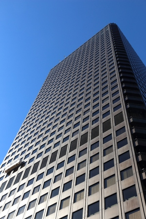 TOKYO, JAPAN - DECEMBER 2, 2016: World Trade Center building in Tokyo. The skyscraper completed in 1970 is located at Hamamatsucho neighborhood. Editorial