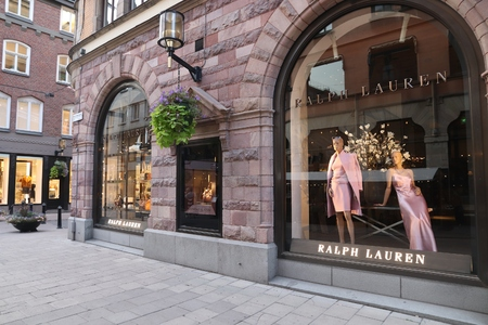 STOCKHOLM, SWEDEN - AUGUST 22, 2018: Ralph Lauren fashion store in Stockholm, Sweden. Ralph Lauren is an American apparel company founded in 1967. Editorial