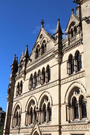 Bradford city, UK. City Hall at Centenary Square.