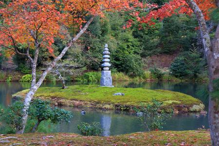 Kinkakuji Gardens in Kyoto, Japan.