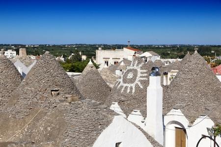 Alberobello traditional houses - trulli. Apulia region of Italy. Italian landmark. 版權商用圖片