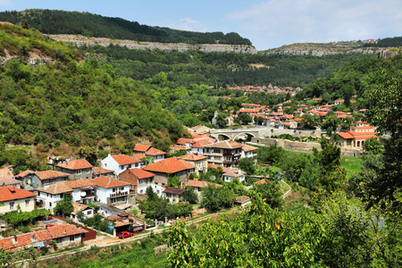 Veliko Tarnovo in Bulgaria. Old town located on three hills. Stock fotó