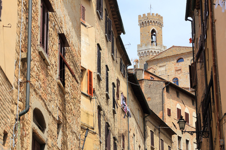 Volterra, Italy - medieval town of Tuscany. Old town street.