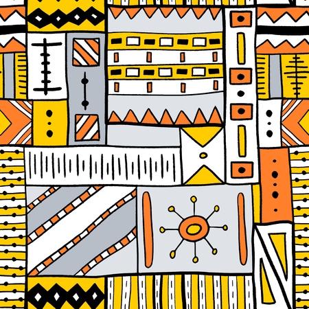 Stammesvektormuster - traditionelles indigenes afrikanisches Textildesign.