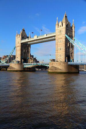 Tower Bridge - landmark in London, United Kingdom.