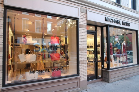 NEW YORK, USA - JULY 5, 2013: Michael Kors fashion store in Manhattan, New York. Michael Kors is an American fashion brand with 550 stores worldwide.