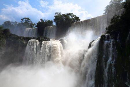 Iguazu Falls landscape - natural wonder in Argentina.