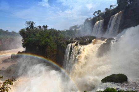 Iguazu Falls - waterfalls on Brazil and Argentina border.
