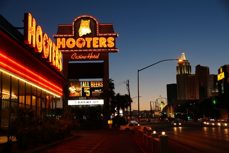 LAS VEGAS, USA - APRIL 13, 2014: Hooters casino resort in Las Vegas. There are 104 casinos in Las Vegas.