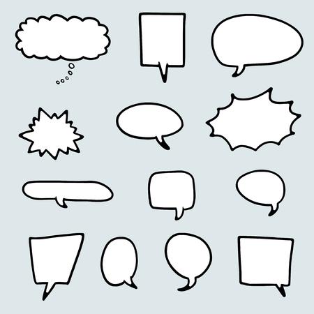 Speech bubble cartoon style set - vector illustration elements.