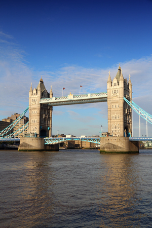 Tower Bridge - landmark in London, United Kingdom.