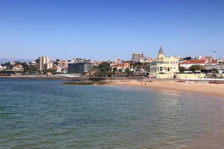 Estoril, Portugal - Tamariz Beach townscape (Praia do Tamariz).