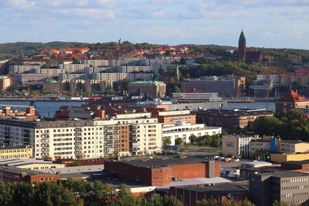 Gothenburg, Sweden - urban cityscape with Lindholmen and Masthugget districts.