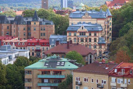 Gothenburg, Sweden - urban cityscape with residential architecture. 免版税图像