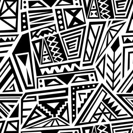 Vector textile design - ethnic style boho pattern. Seamless background tile.