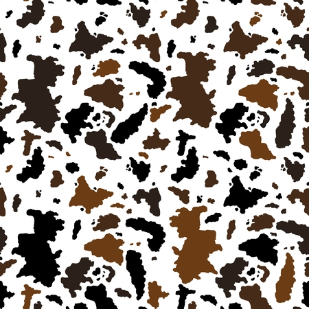 Cow seamless pattern - vector illustration graphics. Animal texture.