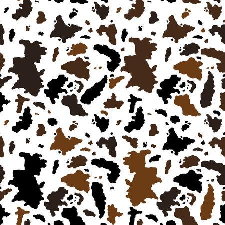 Vaca de patrones sin fisuras - gráficos de ilustración vectorial. Textura animal. Ilustración de vector