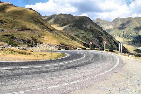 Transfagarasan Highway - mountain road in Fagaras Mountains, Romania. Zdjęcie Seryjne