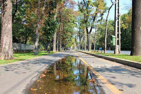 Bucharest bicycle way - cyclist infrastructure in Romania.