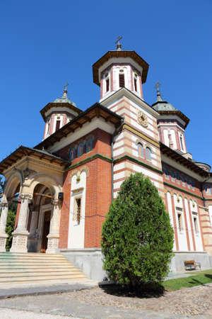 Romania landmark - Sinaia Monastery in Muntenia region. Prahova county.