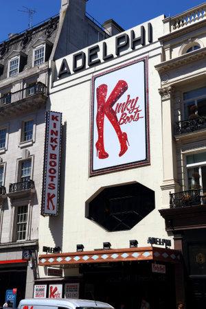 LONDON, UK - JULY 6, 2016: Adelphi Theatre in London, UK. It is one of London West End theatres. In 2013 West End theatres sold 14.5 million tickets. Editoriali