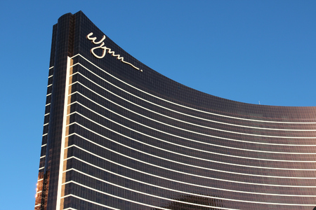 LAS VEGAS, USA - APRIL 14, 2014: Wynn resort in Las Vegas. It is one of 20 largest hotels in the world with 4,750 rooms (together with adjacent Encore).