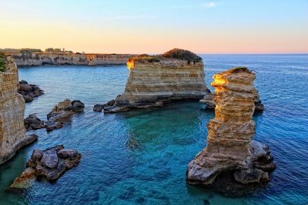 Salento coast landscape in Italy. Torre Sant Andrea in Apulia region. 写真素材