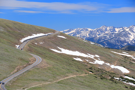 Trail Ridge Road of Rocky Mountain National Park in Colorado, USA.