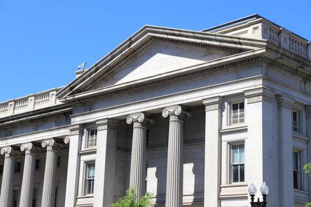 US Department of the Treasury. Washington DC, capital city of the USA. Editorial