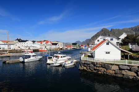 Henningsvaer, Norway - fishing village in Lofoten islands.