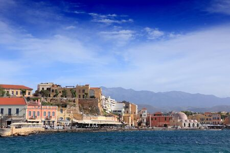 Chania town, Crete. Greek Island city by the sea.