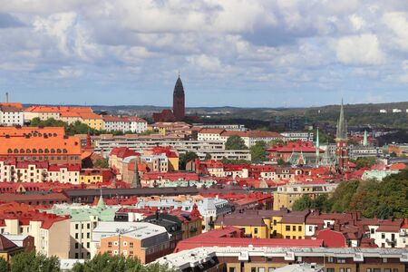 Gothenburg, Sweden - urban cityscape with Olivedal and Masthugget districts. 免版税图像