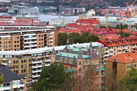 Gothenburg, Sweden - urban cityscape with Annedal and Haga districts.