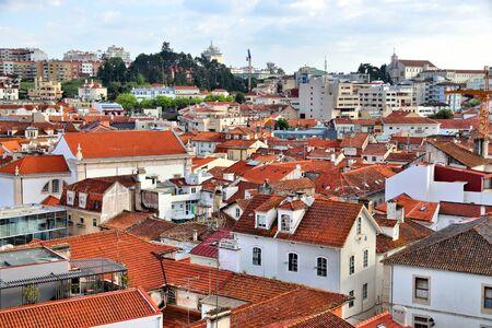 Leiria city urban landscape in Portugal. Centro region.