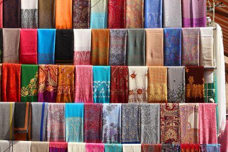 Dubai fashion marketplace - Middle East pashmina scarf shop.