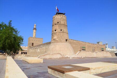 Dubai landmark - oldest building in Dubai, Al Fahidi Fort.