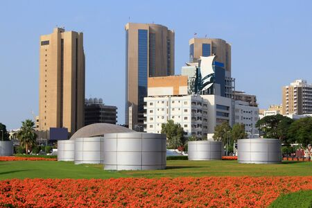 Dubai skyline in Deira district. City in United Arab Emirates. 스톡 콘텐츠