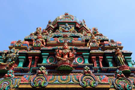Bangkok city, Thailand - Sri Mariamman Hindu temple. Standard-Bild
