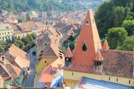 Sighisoara, Romania. Region of Transylvania. Banque d'images