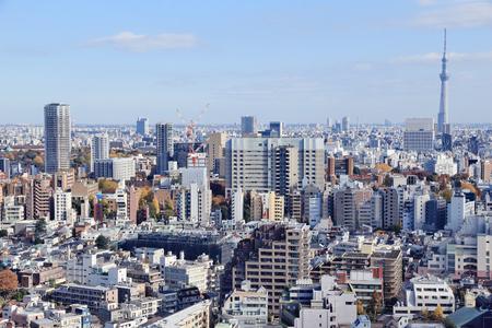 Bunkyo Ward, Tokyo - modern city aerial view.