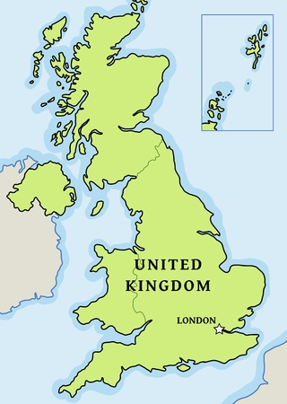 United Kingdom vector map - simple map graphics.