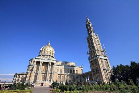 Poland landmark - Basilica of Our Lady of Sorrows in Stary Lichen (Polish: Bazylika Matki Bozej Bolesnej). Stock Photo