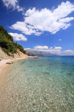 Makarska Riviera. Croatia landscape - Adriatic Sea coast. Marusici in Dalmatia. Standard-Bild