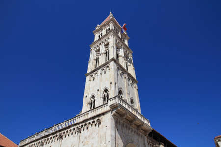 Trogir in Croatia. Campanile of the cathedral.