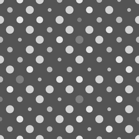 Seamless polka dot texture. Grey design. Retro polka dots vector.